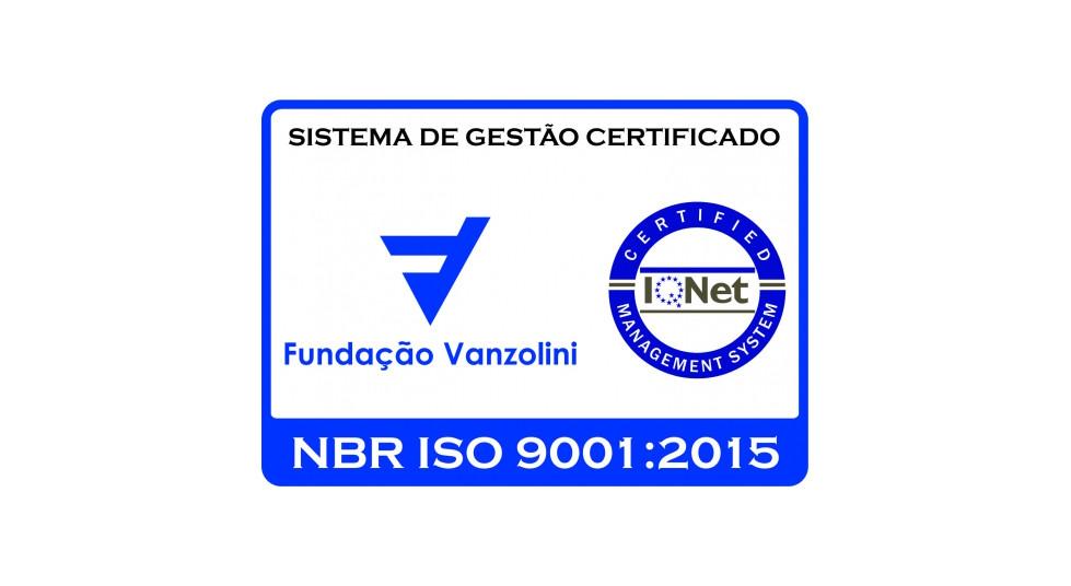Fundação Vanzolini ISO 9001:2015, certificate SQ 21032