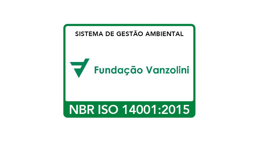 Fundação Vanzolini NBR ISO 14001:2015 Environmental Management System, certificate SGA-1868